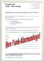 Angebot-Funk-Alarmanlage